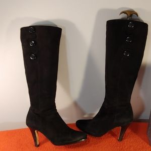 Cole Haan Black Suede Boots size 8 B